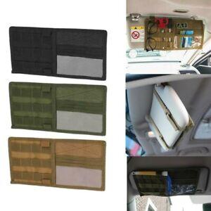 Car Sun Visor Organizer Molle Tactical Visor Panel Accessories Storage Bag Pouch