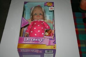 """Vtg 2000"""" Blonde Drowsy Doll By Mattel 15"""" Classic Collection NEW"""