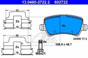 ATE (13.0460-2722.2) Bremsbeläge, Bremsklötze hinten für FORD VOLVO LAND