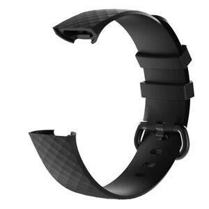 Luxury-Silicone-Band-Strap-Buckle-For-Fitbit-Charge-3-Replacement