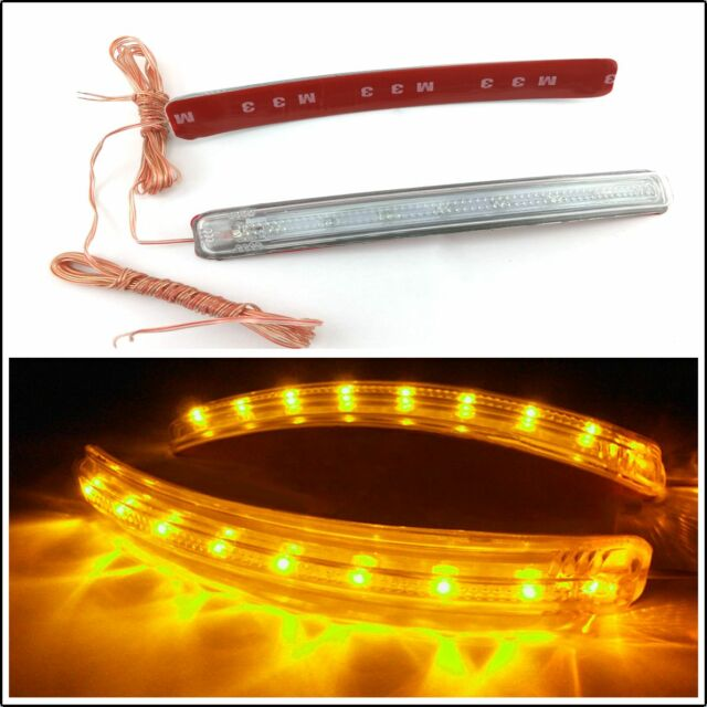 2 PCS 9LED Bendable yellow Auto Rear View Mirrors Turning Signal Lights For Audi