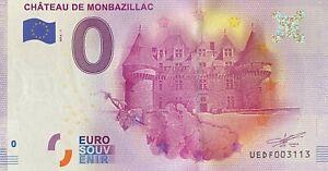 BILLET-0-EURO-CHATEAU-MONTBAZILLAC-FRANCE-2016-NUMERO-RADAR-3223