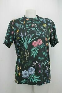 Paul-Smith-Black-Floral-Print-T-Shirt-Size-Small