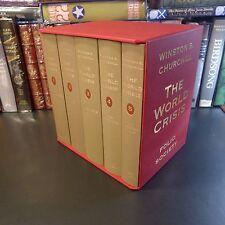 Folio Society THE WORLD CRISIS, Winston S. Churchill, 5 Vols, 1st, Slipcase, WWI