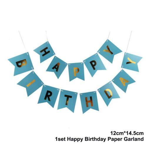 HAPPY BIRTHDAY Banner Bunting Confetti Balloons Set Birthday Party Decoration