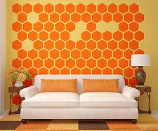 Hexagon Wall Decal, Honeycomb Wall Decal, Geometric Wall Decal, Modern Wall Deco
