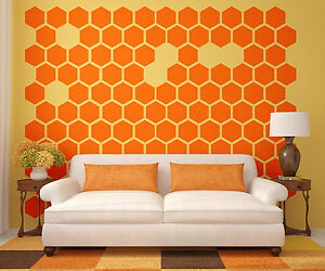 Image Is Loading Hexagon Wall Decal Honeycomb Wall Decal Geometric Wall