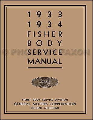 1933-1934 Oldsmobile Corpo Riparazione Manuale Di Negozio Olds Servizio Libro 33 Modellazione Duratura