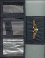 T-34 Aircraft Tri-fold Wallet With Usn T-34 Wings