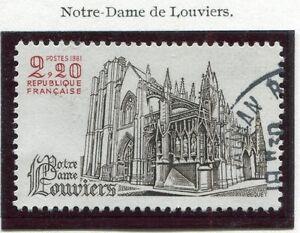 TIMBRE-FRANCE-OBLITERE-N-2161-NOTRE-DAME-DE-LOUVIERS