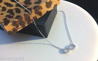 Infinity Necklace-Solid Sterling Silver 925-Rhodium-CZ-Eternal Love-Friendship