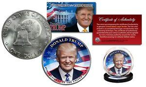 DONALD TRUMP 45th President 1976 Bicentennial IKE Eisenhower U.S. Dollar $1 Coin