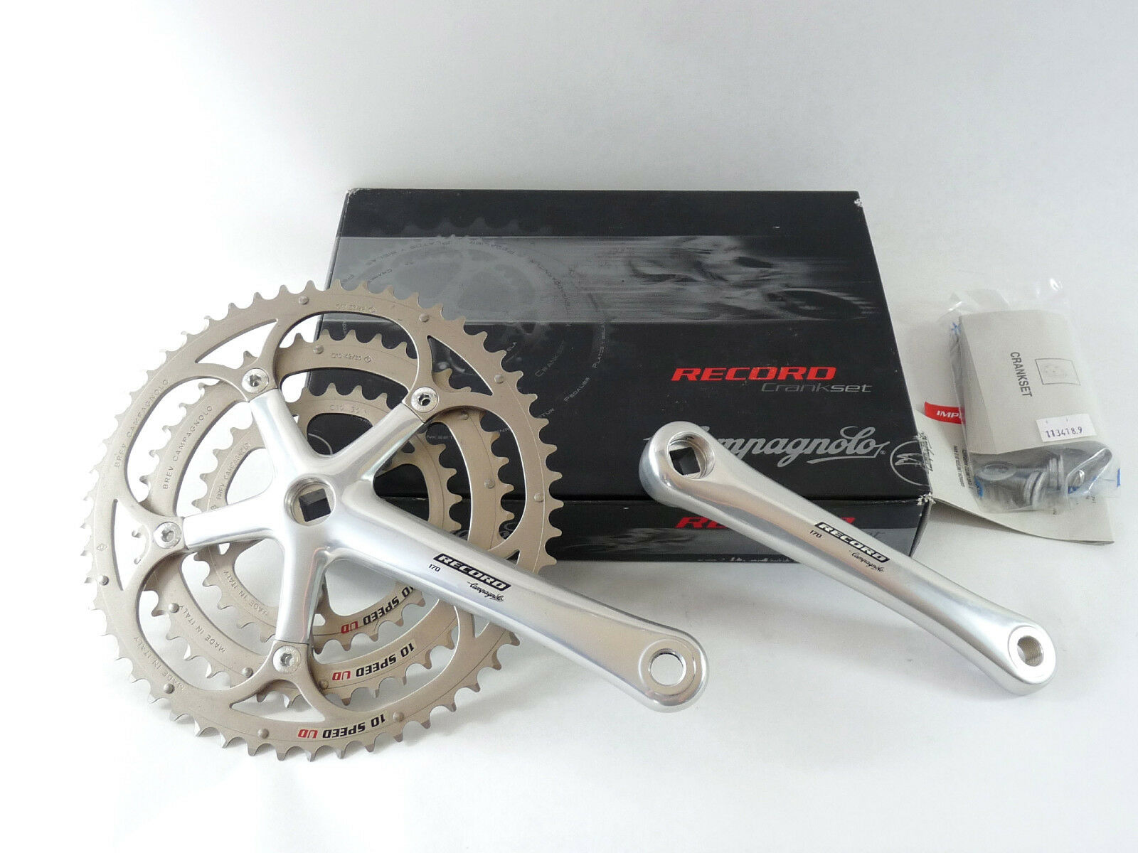 Campagnolo Record Triple Crankset 10 Speed 170mm  53 42 30 Ultra Drive Bike NOS