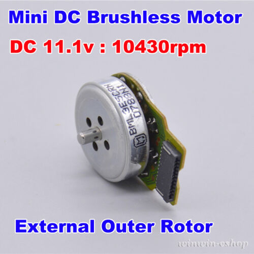 DC 11.1V 10430RPM 3-Phase Mini Brushless Motor External Outer Rotor DIY Toy Part