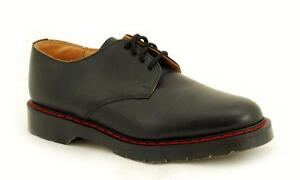 Solovair-NPS-Shoes-Made-in-England-4-Eye-Black-Shoe-Red-Welt-S038-4996BKR