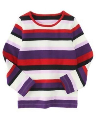 GYMBOREE WINTER PENGUIN MULTI COLOR STRIPE L//S TEE 3 4 5 6 7 8 9 10 12 NWT