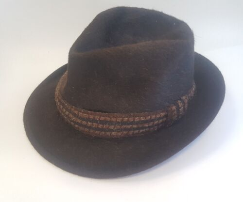 Early 1900s Borsalino Mens Brown Hat Used Conditio