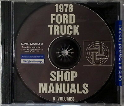 1978 Ford Truck Shop Service Repair Manual CD