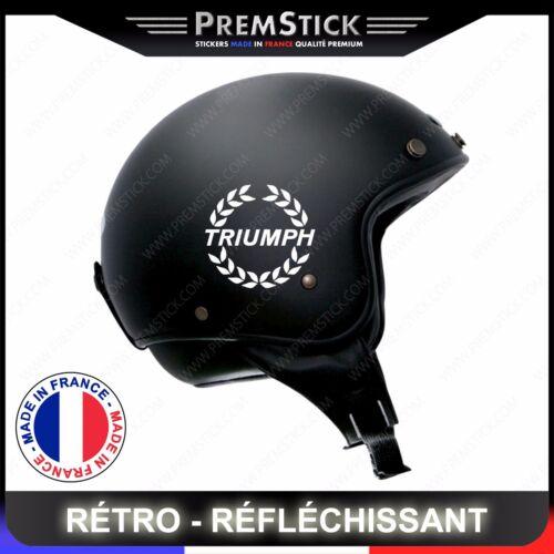 ref1 Kit 4 Stickers Retro Reflechissant Triumph Casque Moto autocollant