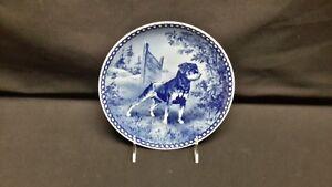 Hundeplatte-Rottweiler-Denmark-Tove-Svendsen-Blue-White-Plate