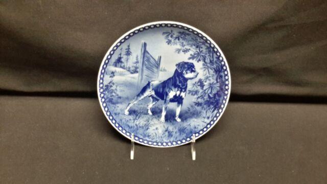 Hundeplatte Rottweiler Denmark Tove Svendsen Blue White Plate