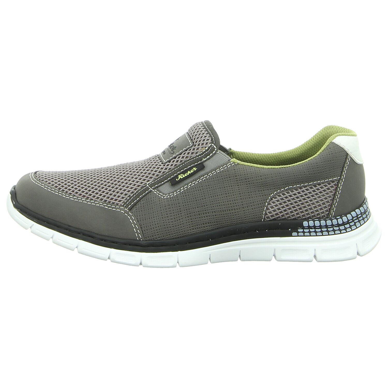 Rieker zapatos Slipper b4870-44 gris combinado