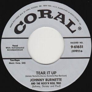 """JOHNNY BURNETTE - Tear It Up   7"""" 45"""