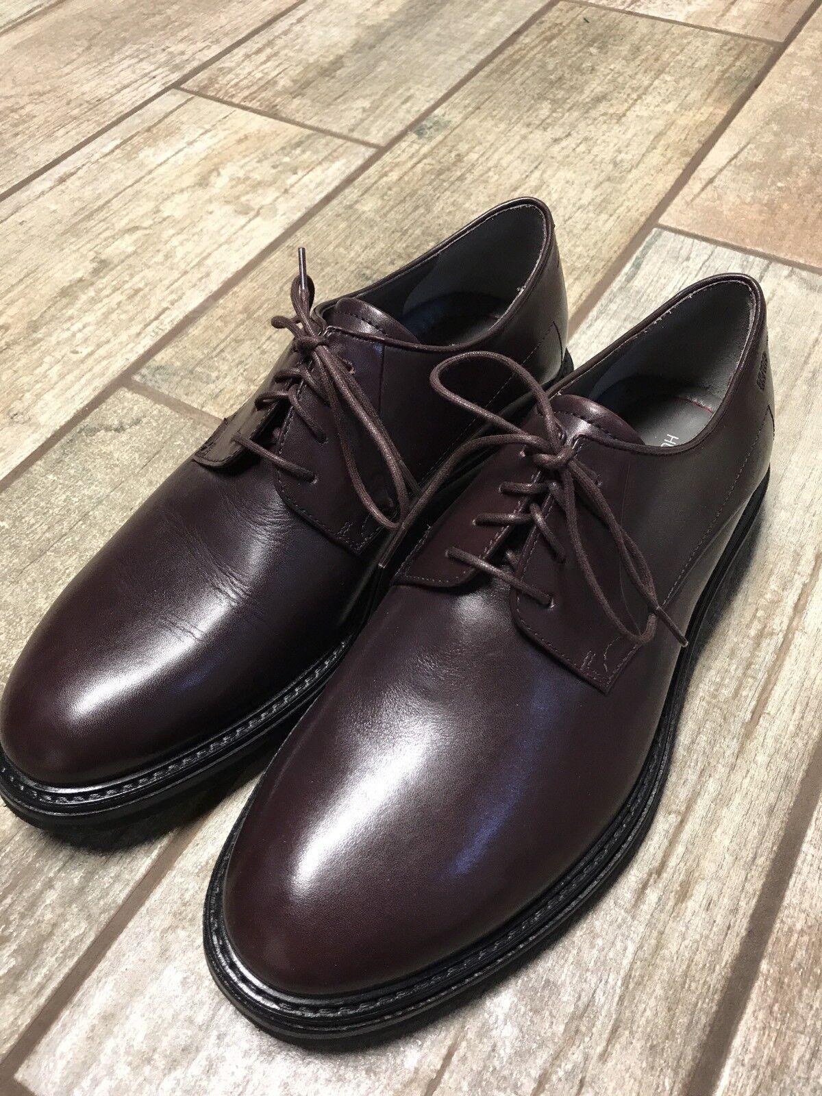 Nuevo Vestido de negocios Hugo Boss De Hombre Zapato Oxford Talla Eu 42 Borgoña Rojo  395