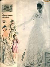 VINTAGE anni'60 VOGUE Couturier PATERSON 1156 nozze abito da sera Sewing Pattern