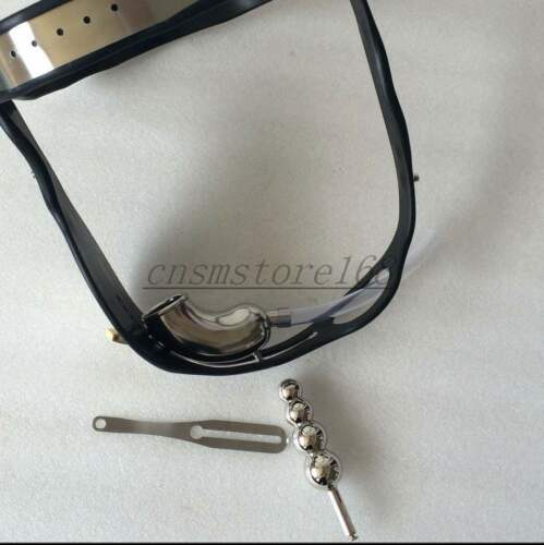 Stainless Steel Adjustable Male Chastity Belt Device with Drainage Pipe Plug