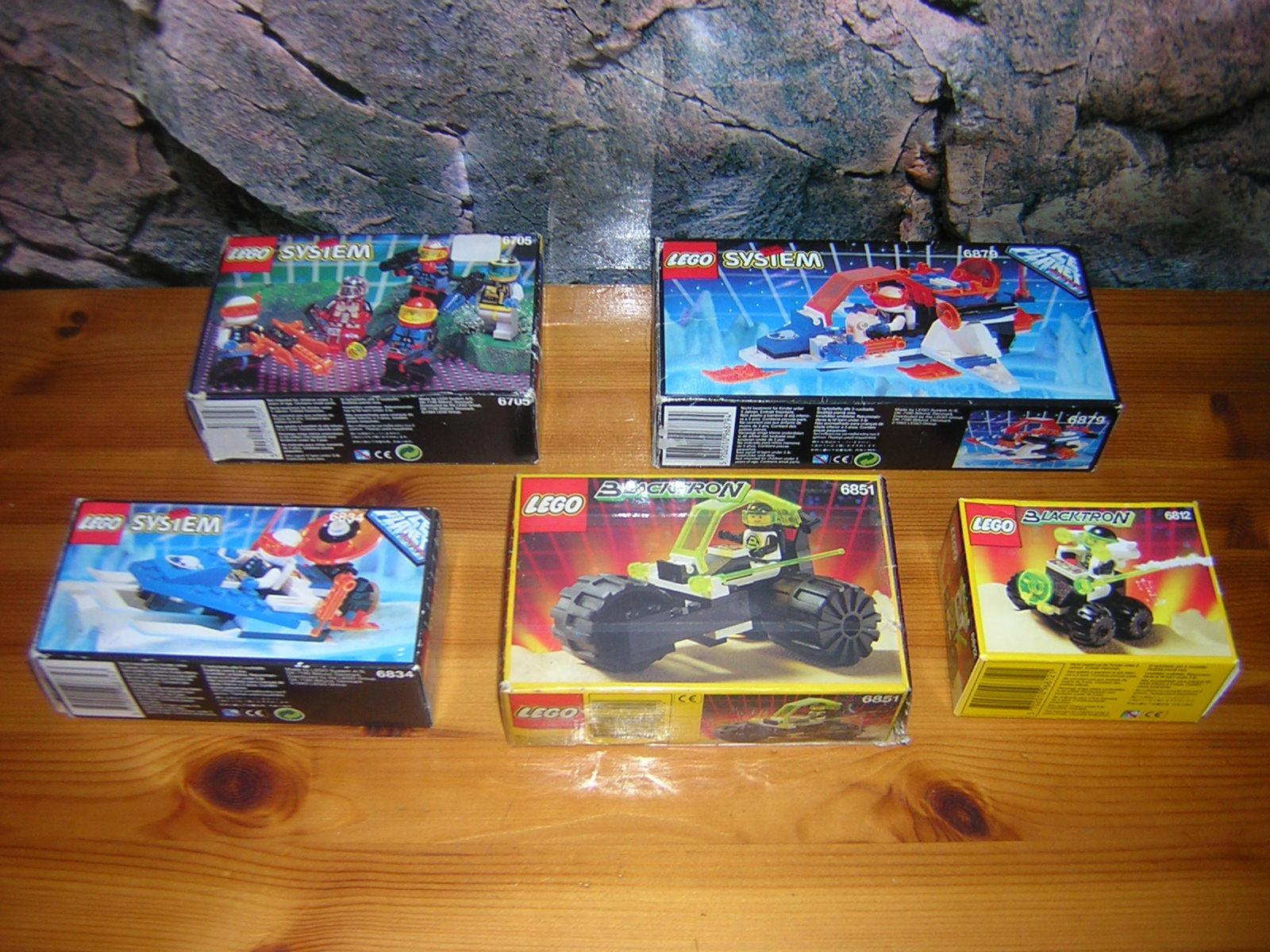(G 4) Lego Classic Space 6705 6812 6834 6851 6879 Ovp + Ba