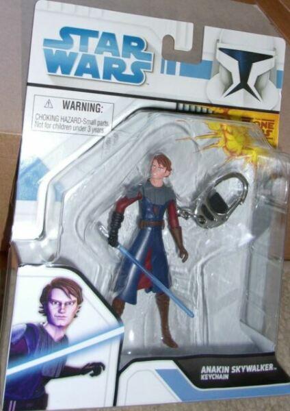 Star Wars DARTH VADER Keychain Keyring Jedi Force Lucas Stack Em Retired NEW S1