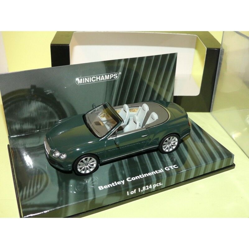 BENTLEY CONTINENTAL GTC 2011 green Green MINICHAMPS 1 43