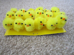 New 12 x Small Mini Funky Fluffy Easter Chicks Cake Craft Decorating Bonnet m