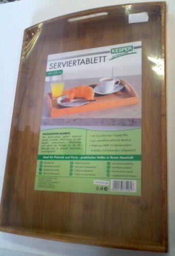 Tablett Serviertablett Bambus Holz 48 x 31cm Kesper
