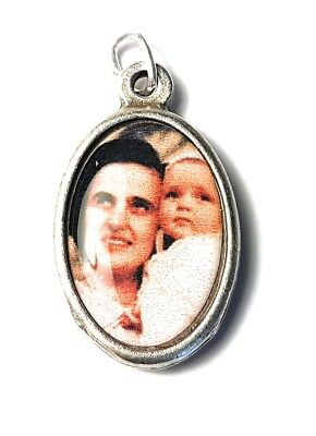 "Antiques 100% True St Gianna Beretta Molla 1"" Relic Medal Patron Mothers Physicians Unborn Children"