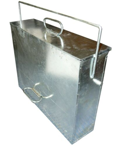 Ash Carrier Galvanised Hot Ash Tidy Box Carrier Bucket Fireplace Pan