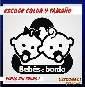 Sticker-Vinilo-BEBES-A-BORDO-Escoge-color-y-tamano-Pegatina-Decal-Vinyl