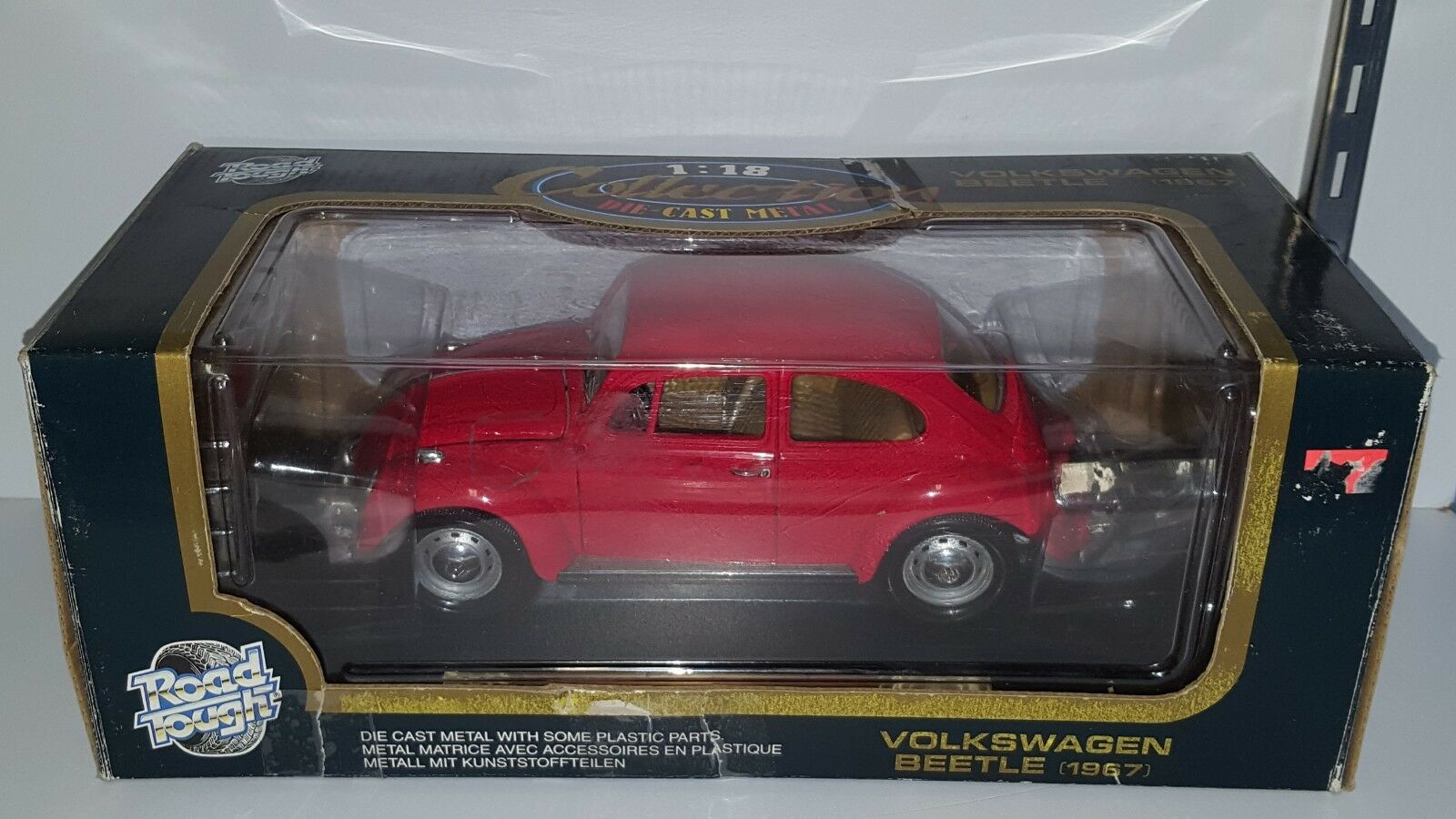 1 18 ROAD TOUGH 1967 VOLKSWAGEN BEETLE RED pd