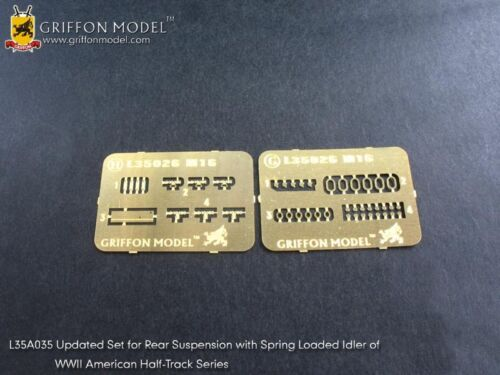 Griffon L35A035 1//35 Rear Suspension Update Set for U.S Half-Track Series