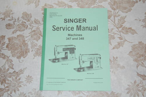 Professional Full Size Service Manual on CD for Singer 347 /& 348 Sewing Machines