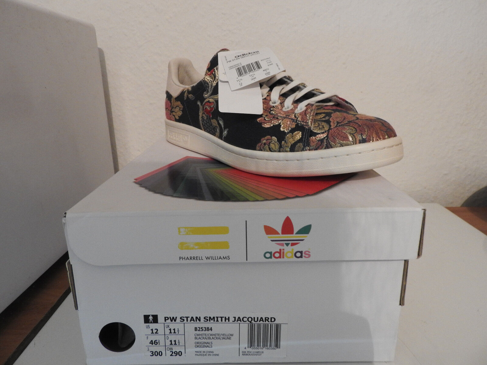 NEU Adidas x Pharrell Williams Stan Smith Jacquard Gr. US 12 (46 2 3) B25384