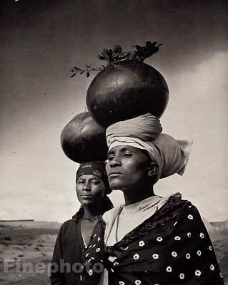 1963/83 Vintage Black African ZULU WOMEN Gourds Photo Art By YOUSUF KARSH 11x14