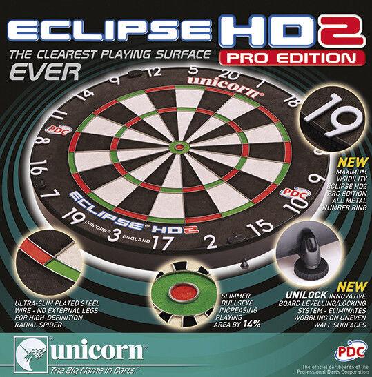 Unicorn Dartboard Eclipse HD 2 2 2 PRO Bristl TV Dartscheibe Dart Board Steeldart f3b9a9