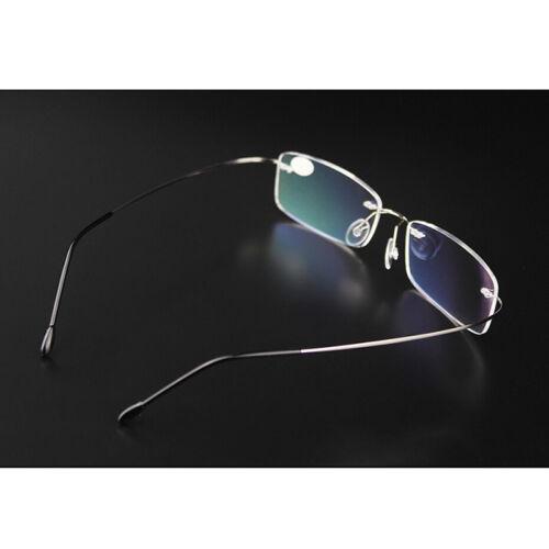 Randlos Brille Mann Rx optische Gläser Speicher Titanium-Brillenfassung de J6F5