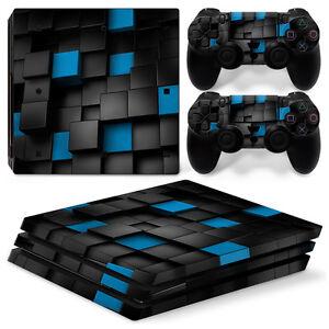 Sony Ps4 Playstation 4 Skin Design Aufkleber Schutzfolie Set Video Game Accessories Faceplates, Decals & Stickers White Alu Motiv