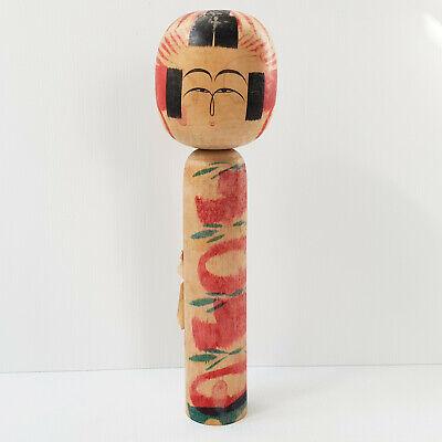 Geschnitzte Blumen schwarze Kimono Wooden japanischen Kokeshi Puppe Jttuf