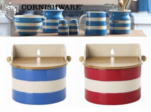Cornishware Blue or Red /& White Stripe Stoneware Salt Box Cellar