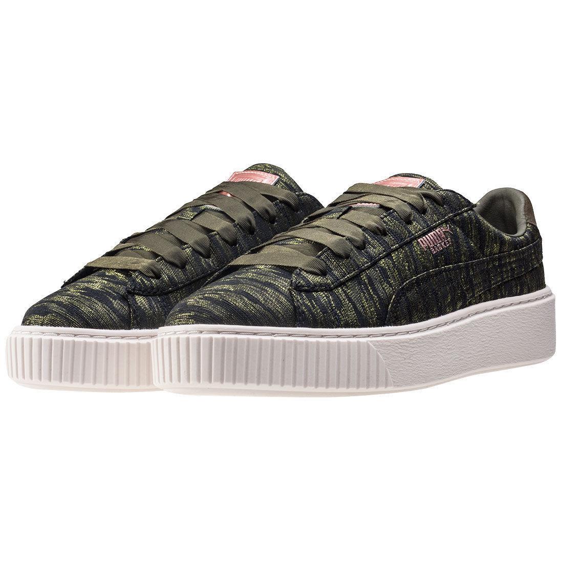Puma Cesta 1.5    Plataforma Zapatillas Zapatos para mujeres de cuerda de terciopelo Oliva 364092-01 Talla 8.5  60% de descuento
