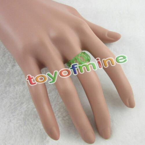 Coloré tatouage vintage extensible bracelet bague hippy chick doux élastique